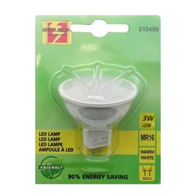 Led lamp spot MR16 3 Watt 12 volt warm wit