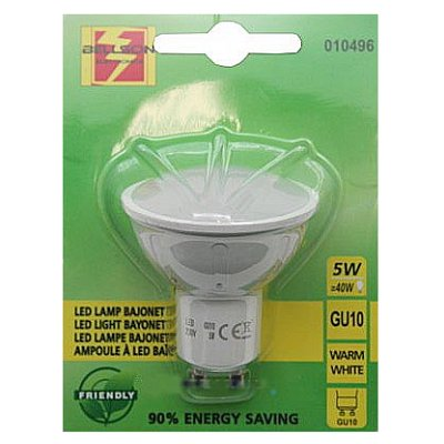 Led lamp spot GU10 5 Watt Bajonet warm wit
