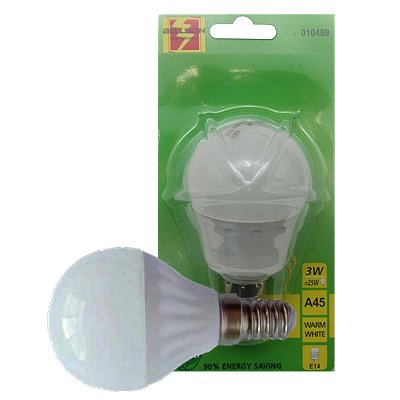 Led lamp A45 3 Watt E14 warm wit