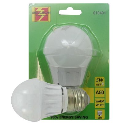Led lamp A50 5 Watt E27 warm wit