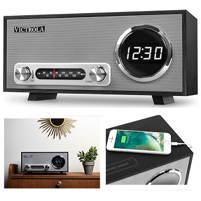 Victrola bluetooth klok radio