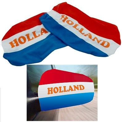 Autospiegelhoes oranje Holland 2 st.