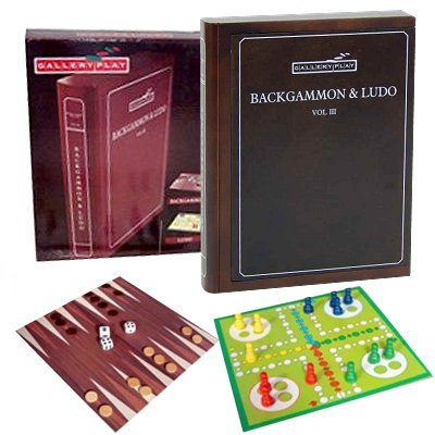 Backgammon Ludo spel in houten box