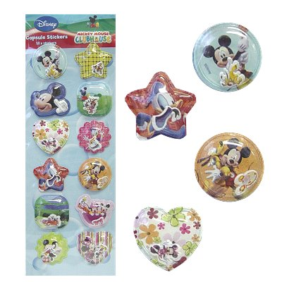 Capsule 3d stickers Disney Mickey Mouse 12 st.