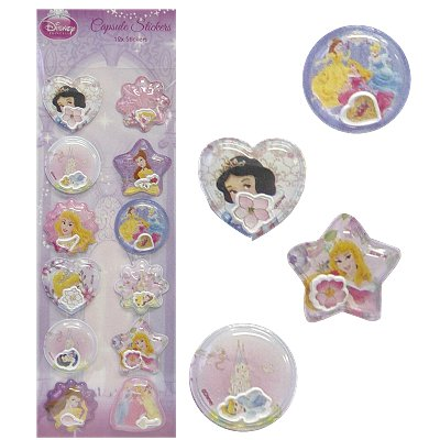 Capsule 3d stickers Disney Princess 12 st.