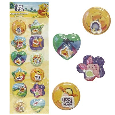 Capsule 3d stickers Disney Winnie the Pooh 12 st.