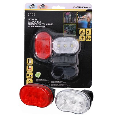 Led fietslampen set Dunlop