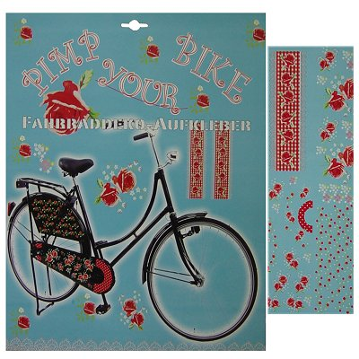 Fietsstickers set rozen