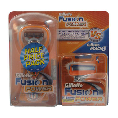 Gillette Fusion power scheersysteem met 5 mesjes