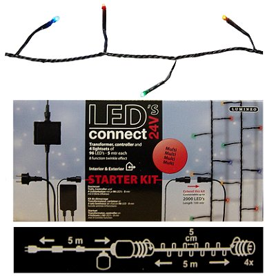 Kerst ledverlichting led-connect 384 leds multicolor Lumineo
