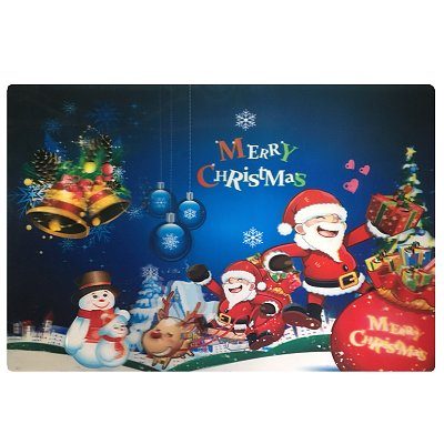 Kerst placemat 3D Merry Christmas