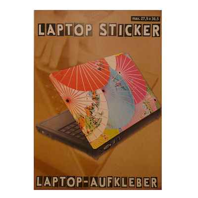 Laptopsticker parasol