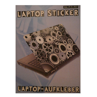 Laptopsticker tandwiel