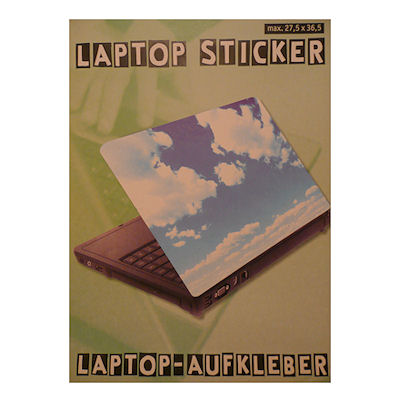 Laptopsticker wolken
