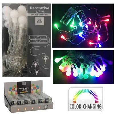 Led lichtsnoer 20 bolletjes colorchanging