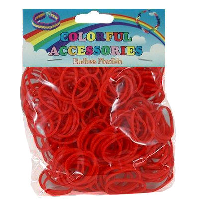 Loom bands rood 300 st.