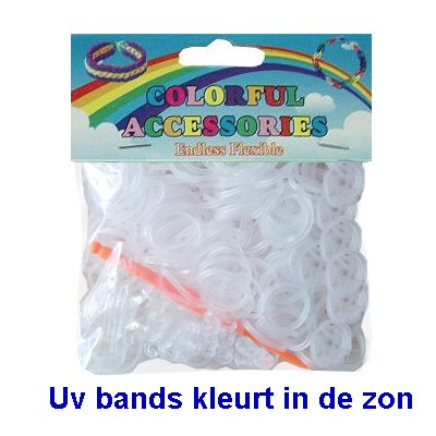 Loom bands UV zonlicht paars 300 st.
