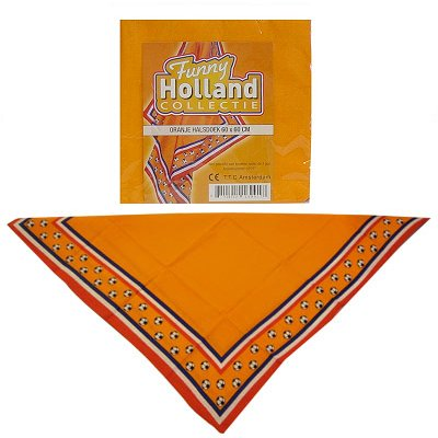 Fussball Halstuch Orange