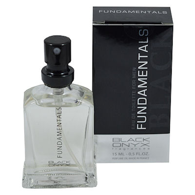 Mini parfum Black Onyx Fundamentals Black for men  15 ml