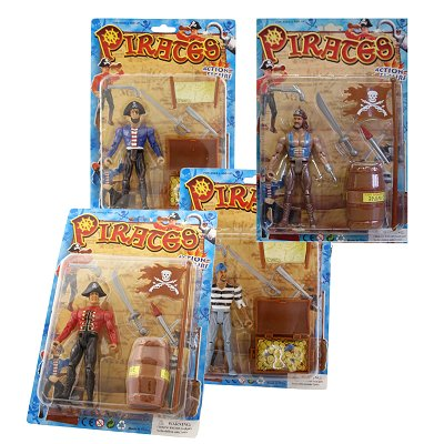 Piraten aktiefiguur pop set 6 dlg