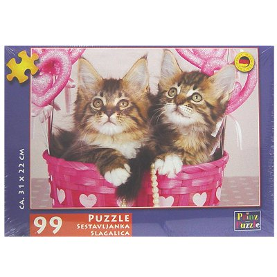 Puzzel kind 2 poesjes in mand 99 dlg