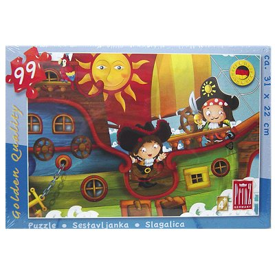 Puzzle Kind Piratenboot 99 Tlg