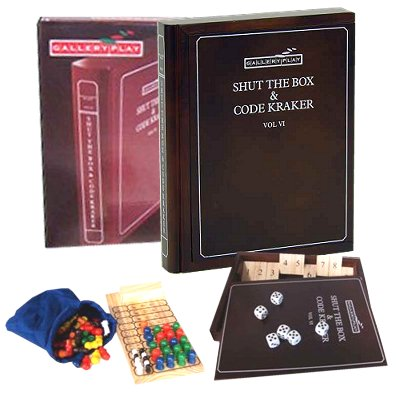Shut the Box Codekraker spel in houten kist