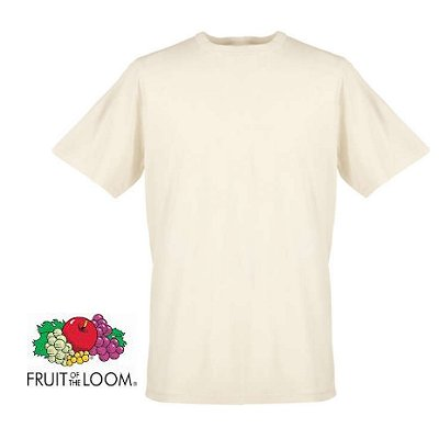 T-shirt natural creme Fruit of Loom L