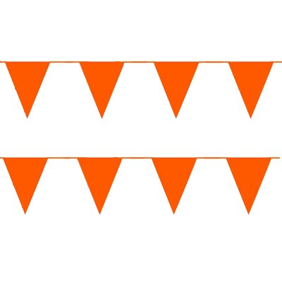 Wimpelkette Orange 10 Meter